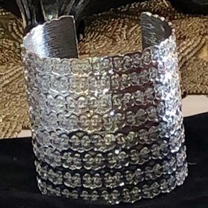 Beautiful Boho Silver Cuff Bracelet